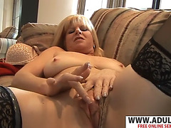 Lewd stepmama dawn jilling gives titjob nifty youthful dad&#39s ally