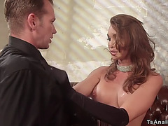 Transsexual bitch goddess anal copulates detective