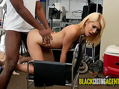 Horny latin babe seduces director into stuffing her holes with his bbc
