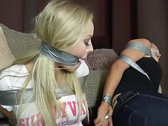 Hannah bambi breasty sock gagged 5
