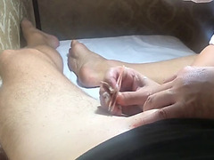 Brazilian waxing of a large penis part 5 making all smooth