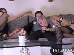Hitzefrei tattooed german playgirl loves it coarse