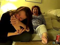 Older feet lesbian babes