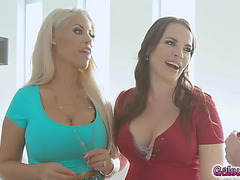 Cougars dana and bridgette giving kat a enjoyment experience she&#39d not ever had