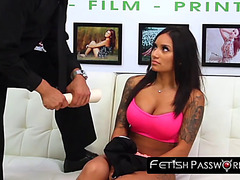 Casting latin babe fastened and gagged in advance of evil pounding