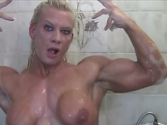 Hardcore female muscle baths