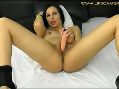Pov orall-service from an lewd wench,threatening swallows your knob smacking