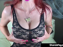 Indecent talking housewife shanda fay sucks &amp copulates a pecker!