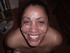 Aged latin babe with biggest scoops sucks monster darksome knob