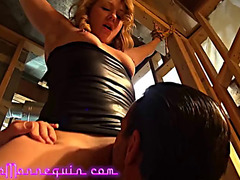 Hawt golden-haired mother i'd like to fuck fastened and drilled by her taskmaster