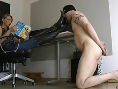 The whore boots licker