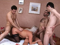 Gang group-sex with granny elaine