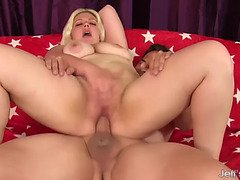 Golden-Haired big beautiful woman