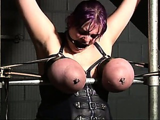 Sex Movie of Tied Big Boobs, Tits Torture