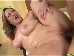 Hardcore sex with natural boob babe