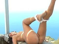 luxury russian brunettes striptease