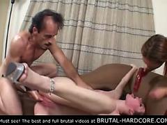 Need To watch!menacing brutal group sex