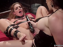 Breasty mastix anal copulates belted lesbo
