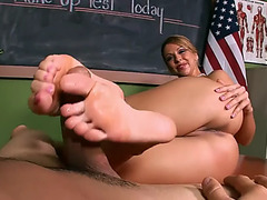 Feet,threatening teasing,fearsome hose,fearsome stockings,fearsome teacher