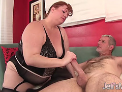 Hot redhead big beautiful woman julie ann greater amount takes a hardcore pounding