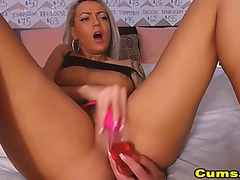 Marvelous blond playing her soaked and yummy cum-hole