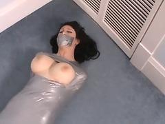 Silver tape mummified