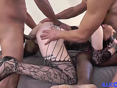 Melissa realizes her dream receive drilled by several darksome boy