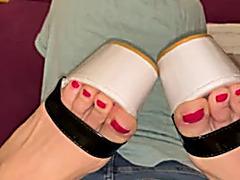 High heels teasing
