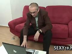 Wild fucking with mature man