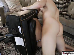 Cute latin babe acquires manacled and then drilled on the chair
