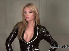 Natalie dark latex costume
