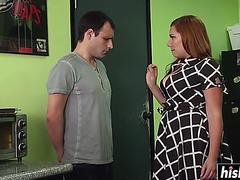 Breasty femdom-goddess spanks a nasty stranger