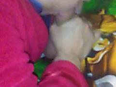Lisa engulfing pecker of stranger