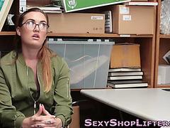 Teenager in spex facial
