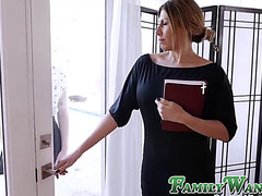 Promiscuous stepsister tutored by large stepbro weenie