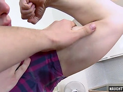 Tattoo dad casting with facial