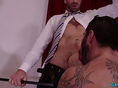 Hirsute bear bareback with ejaculation