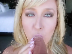Golden-Haired mother i'd like to fuck sucks her toy
