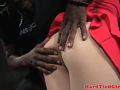 Chick receives tiedup and dominated by maledom