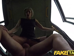 Fake taxi tables are turned on concupiscent dominatrix by large schlong