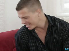 European homosexual anal sex with facial cum
