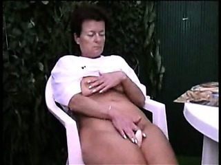Porno Video of Older Lady Masturbating Outdoor