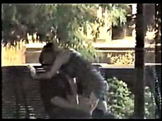 Porn Tube of Voyeur Outdoor Bench Fingering