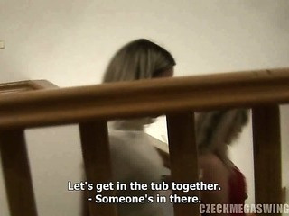 Porn Tube of Two Horny Babes Fuck Hard At Czech Swingers Party