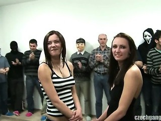Porn Tube of Busty Girl At Czech Gang Bang Party