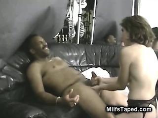 Porno Video of Brunette Milfs Interracial Sex