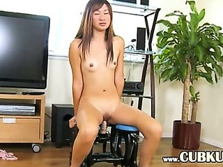 Porn Tube of Ultra Sexy Asian Testing Realy Huge Toy