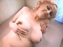 Sexy Rita shows her big tits and hot body