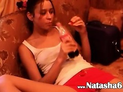 Natasha and Vika chicks playing
