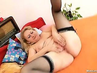 Porno Video of Dirty Old Grandma Pussy Spreading And Masturbation